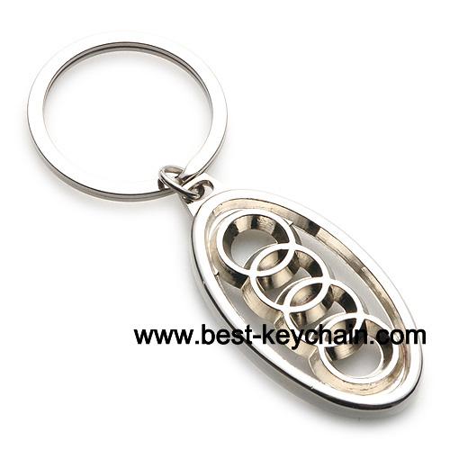 Promotion Metal Audi Car Logo Keyring Car Keychain