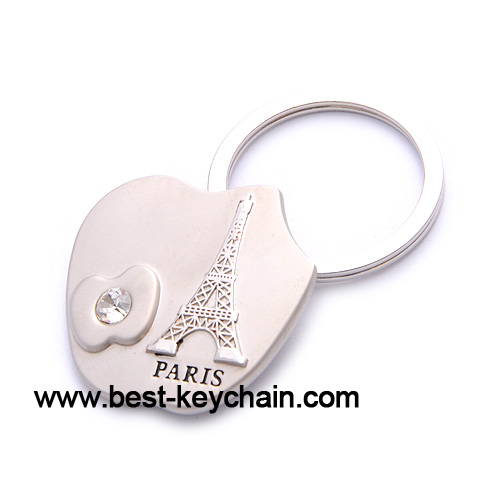Souvenir apple shape paris key chain