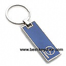 Rectangle shape metal benz auto logo key chain