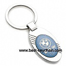 metal ellipse shape bmw auto car key ring