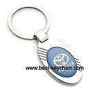 metal ellipse shape toyota auto key ring