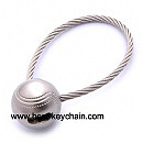 metal 3d baseball strap keychain promotion gift
