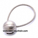 metal ball keychain promotion strap key chain