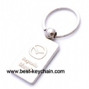Production metal mazda car key chain