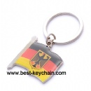 Metal germany flag key chain