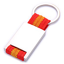 promotiongift laser logo spain flag metal keychain