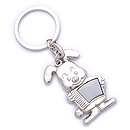 rabbit shape metal keychain